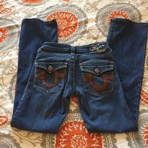 True Religion Section Row Seat Size 25 Jeans